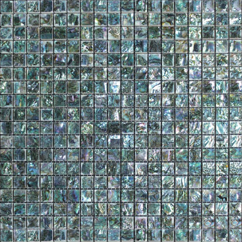 "Abalone Natural Shell Mosaic Sheet, 15mm -1/2"", 1 tile"
